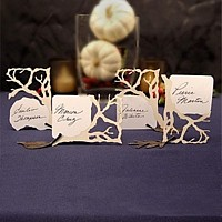 Laser die cut tree branch place cards
