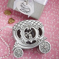 Pewter colored royal coach trinket box