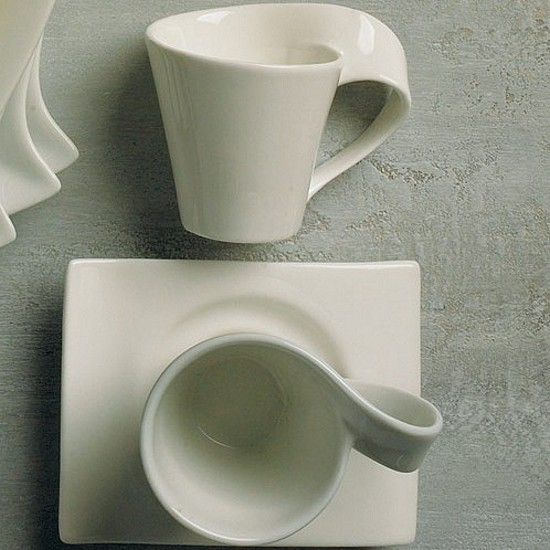Porcelain swish cup and saucer favors
