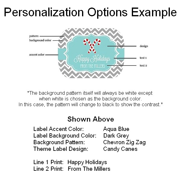 Winter label personalization example