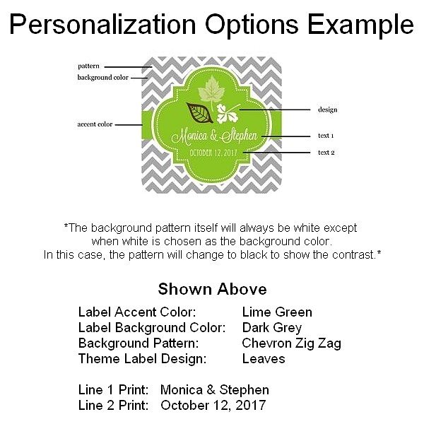 Fall candle tin label personalization example