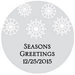 Snowflakes Favor Tag Design
