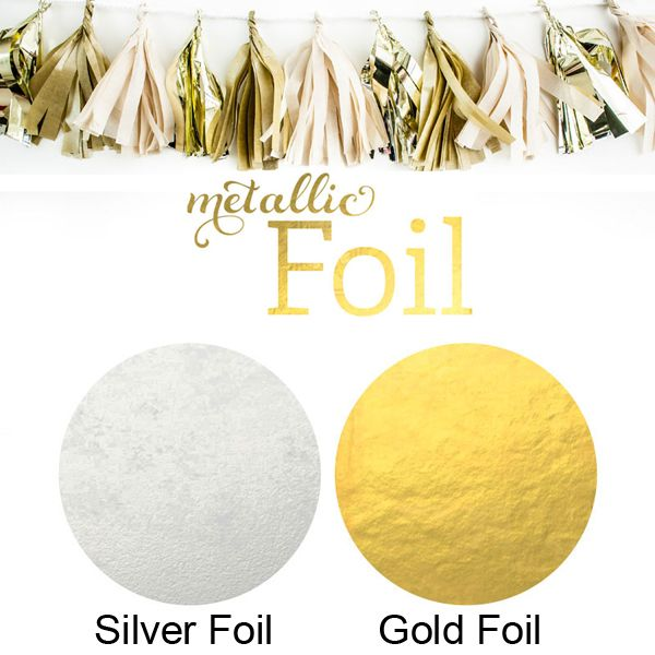 Choose from gold or silver foil colors for your personalized labels