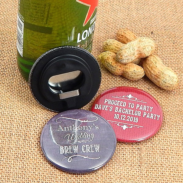 Custom personalization on personalized pocket sized bottle openers