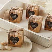 Personalized Hearts in Love Rustic Favor Boxes