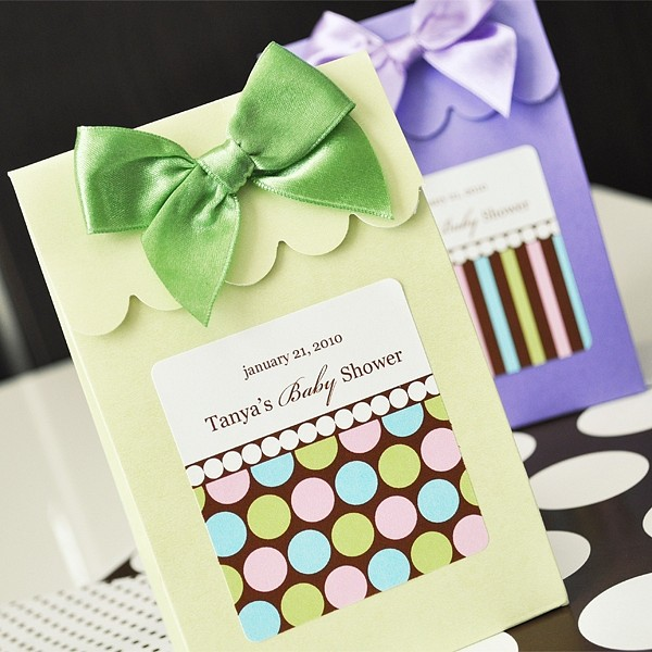 Green and Lilac Dots and Stripes Sweet Shoppe Candy boxes shown with Pastel Dots and Pastel Stripes personalized labels