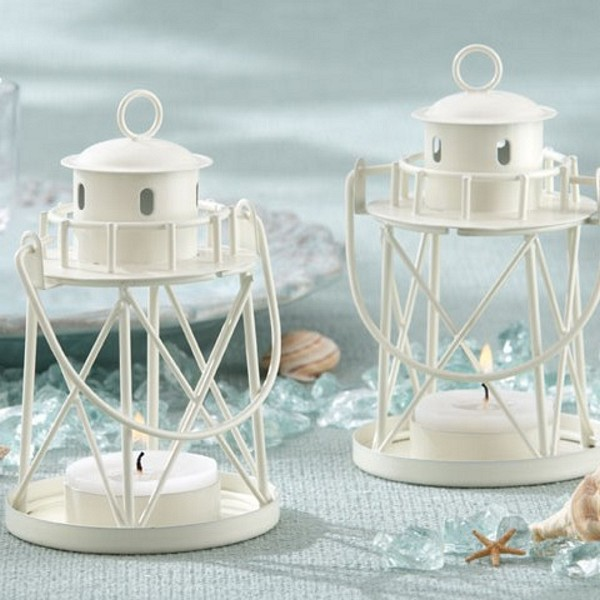 By the sea mini lighthouse lantern tea light holders