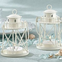 Lighthouse design tea light candle holders