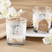 Lace Glass Tealight Holder