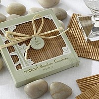 Personalized Natural Bamboo Eco-Friendly Coasters