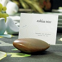 Natural Place Card Holder Rocks