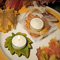 Fall and autumn theme votive candles
