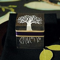 Fall Tree Wooden Favor Box