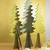 Wooden Die-Cut Evergreen Tree Stands