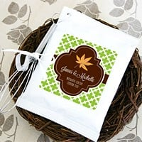 Personalized fall themed hot cocoa mixes