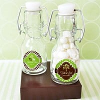 Mini Glass Vintage Bottles with Personalized Fall Labels
