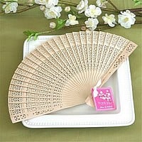 Folding Sandlewood hand fan favors