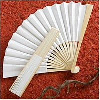 Folding hand fan wedding favors