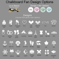 Chalkboard fan label design and design color options
