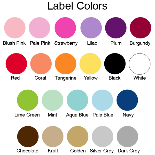 Fan label color options