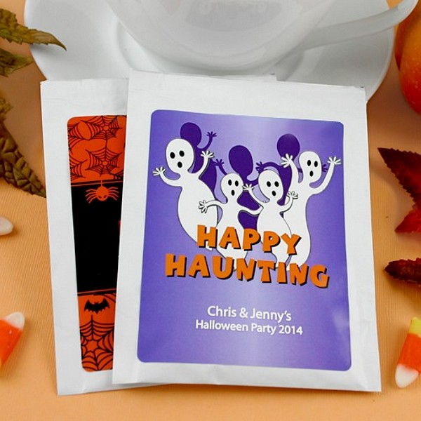 Personalized Halloween themed hot cocoa mixes