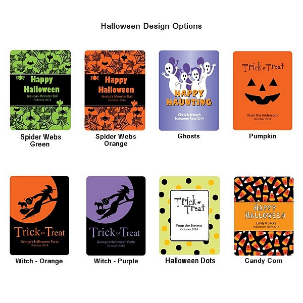 Halloween label design options