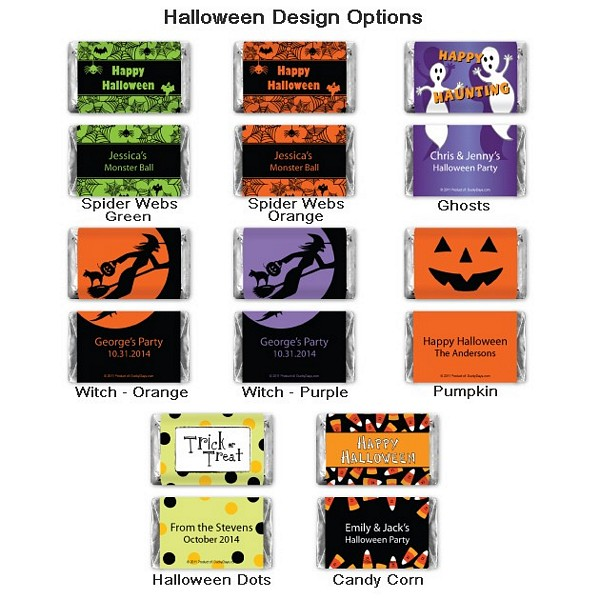 Halloween miniature wrapper design options