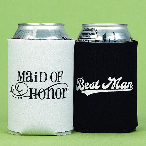 Maid Of Honor And Best Man Can Coolers Set Of 2