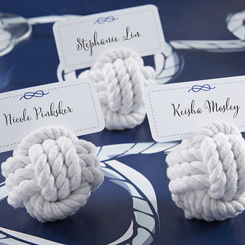 Nautical Cotton Rope Place Card Holders