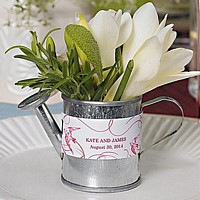 Miniature galvanized watering can favors