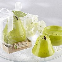The perfect pair green ceramic salt and pepper shaker