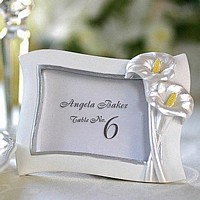 White Place Card Frames available in assorted colors and themes