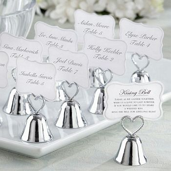 Kissing Bell Place Card Photo Holders