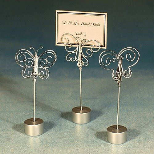 Wedding Place Card Holder Ideas: Butterfly Shape Wire Place Card Holders