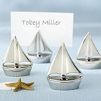 Shining Sails Silver Sailboat Place Card Holders