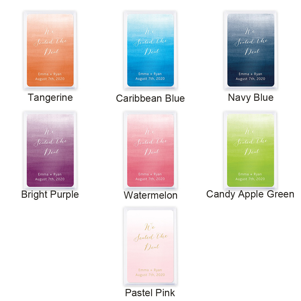 Color options for Ombré Wedding Playing Cards