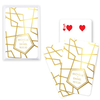 Retro Luxe Foil Custom Playing Cards