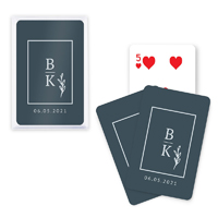 Stacked Monogram Playing Cards