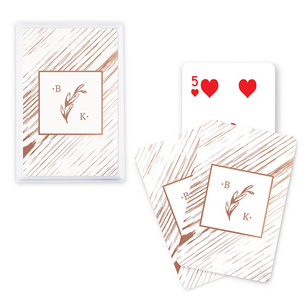 Rustic Monogram Playing Cards