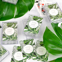 Personalized Tropical Leaf Playing Cards