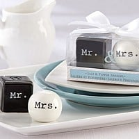 Mr & Mrs Ceramic Salt and Pepper Shakers