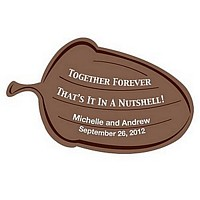 Personalized 'Together Forever' Acorn Shaped Stickers