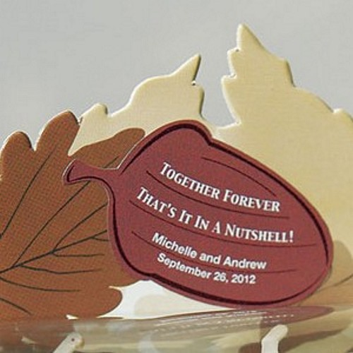 Personalized Together Forever Acorn Shaped Stickers