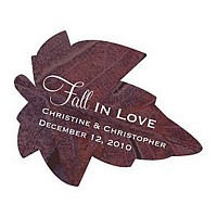Personalized Autumn Leaf Shaped Stickers