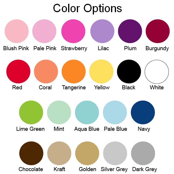 Choose from 22 background and accent colors for your candle tins with personalized labels