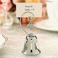 Kissing bell and bell place card holder wedding favors