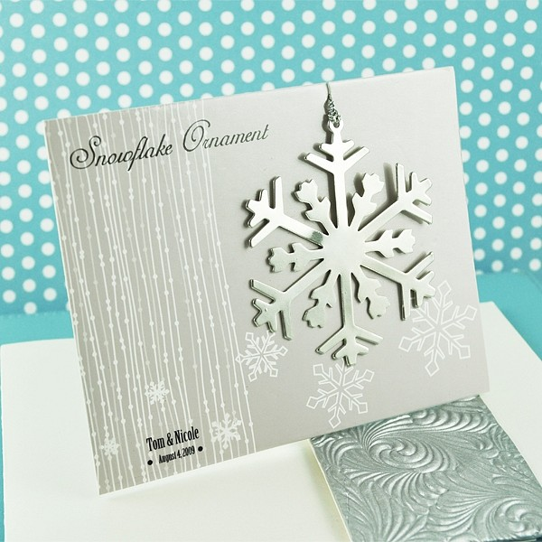 Silver Snowflake Christmas Tree Ornament Favors