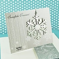 Personalized Silver Snowflake Ornament Favors