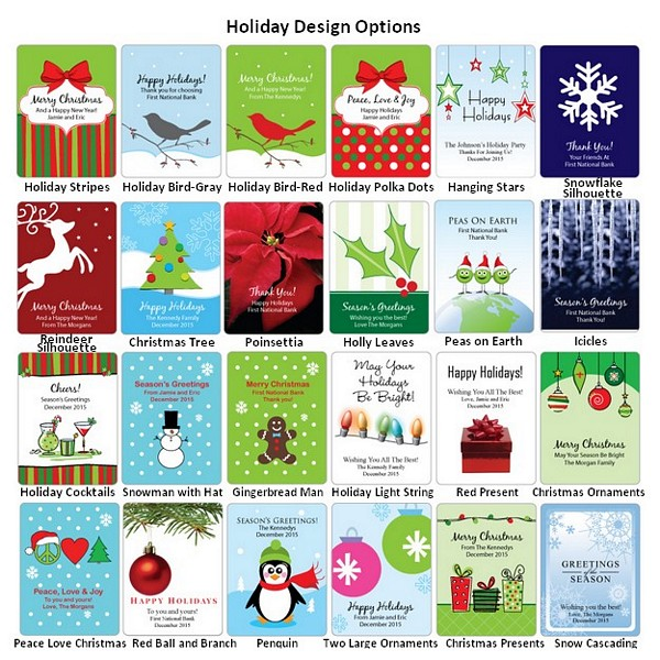 Holiday design label options