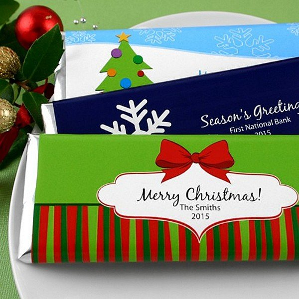 Personalized holiday design candy wrappers
